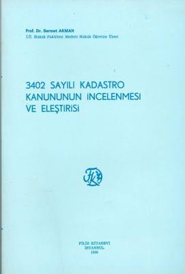 3402 Sayılı Kadastro Kanunu
