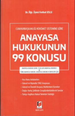 ANAYASA HUKUKUNUN 99 KONUSU